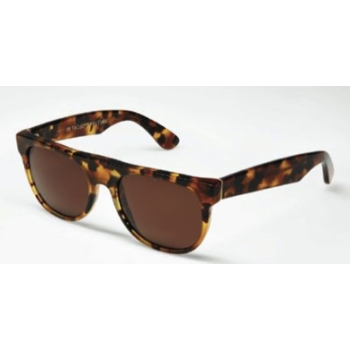 Super Flat Top Small Dark Havana 607 Sunglasses