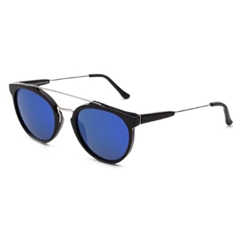 Super Giaguaro ITHT R20 Black Blue Large Sunglasses