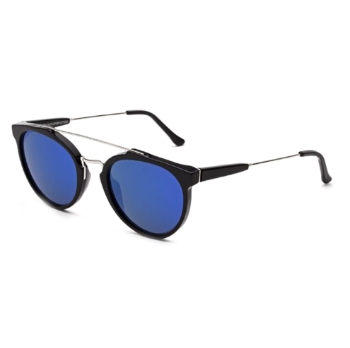 Super Giaguaro ITHT UH5 Black Blue Sunglasses