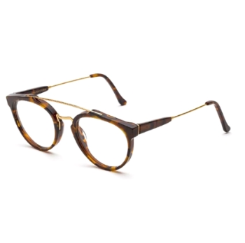 Super Giaguaro Optical IRW3 CLB Classic Havana Large Eyeglasses