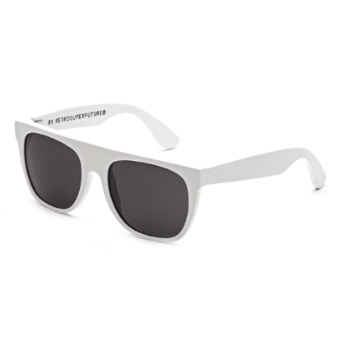 Super Kids Flat Top IRVP 311 White Sunglasses