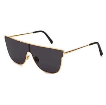 Super Lenz Flat Top IHCT BD0 Black Large Sunglasses