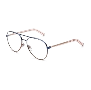 Super Numero 34 I7GR 2LK Faded Navy/RoSA Eyeglasses