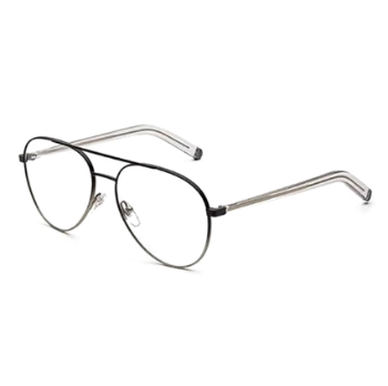 Super Numero 34 IKH7 WC3 Faded Nero/ArgentO Eyeglasses