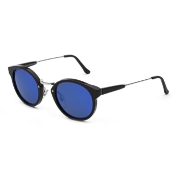 Super Panam I3UX F7V Black Blue Large Sunglasses