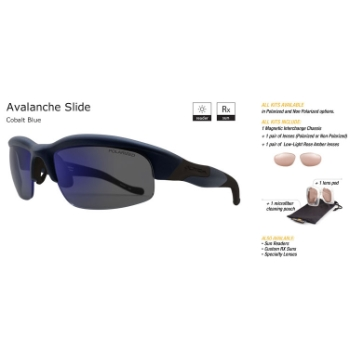 Switch Avalanche Slide Cobalt Blue/True Color Grey Reflection Blue Non-Polarized Sun Kit Sunglasses