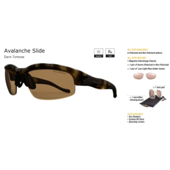 Switch Avalanche Slide Dark Tortoise/Contrast Amber Reflection Bronze Non Polarized Sun Kit Sunglasses