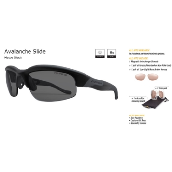 Switch Avalanche Slide Matte Black/True Color Grey Reflection Silver Non-Polarized Sun Kit Sunglasses