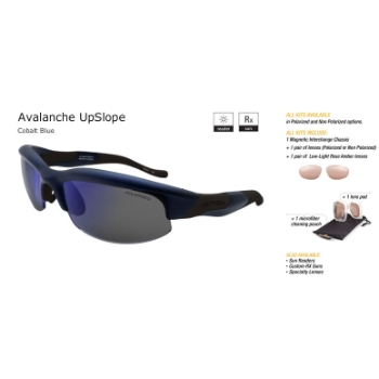 Switch Avalanche UpSlope Cobalt Blue/True Color Grey Reflection Blue Non Polarized Sun Kit Sunglasses