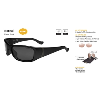 Switch Boreal Matte Black/True Color Grey Reflection Silver Non Polarized Sun Kit Sunglasses