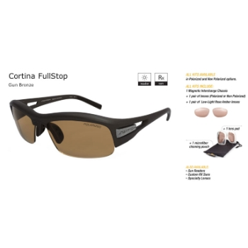 Switch Cortina Full Stop Gun Bronze/Contrast Amber Reflection Bronze Non Polarized Sun Kit Sunglasses