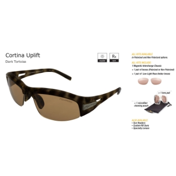 Switch Cortina Uplift Dark Tortoise/Contrast Amber Reflection Bronze Non Polarized Sun Kit Sunglasses