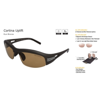 Switch Cortina Uplift Gun Bronze/Contrast Amber Reflection Bronze Polarized Glare Kit Sunglasses