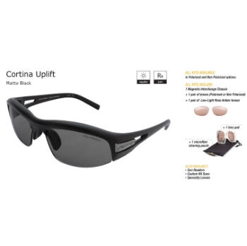 Switch Cortina Uplift Matte Black/True Color Grey Reflection Silver Non Polarized Sun Kit Sunglasses