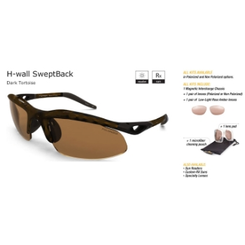 Switch H-Wall Swept Back Dark Tortoise/Contrast Amber Reflection Bronze Non Polarized Sun Kit Sunglasses