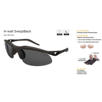 Switch H-Wall Swept Back Gun Bronze/True Color Grey Reflection Silver Non Polarized Sun Kit Sunglasses