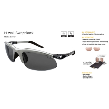 Switch H-Wall Swept Back Matte Silver/True Color Grey Reflection Silver Non Polarized Sun Kit Sunglasses