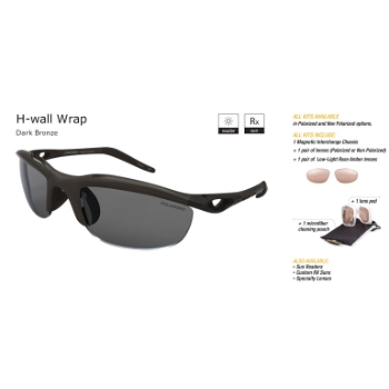 Switch H-Wall Wrap Dark Bronze/True Color Grey Reflection Silver Non Polarized Sun Kit Sunglasses