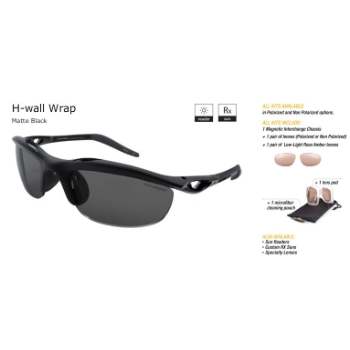 Switch H-Wall Wrap Matte Black/True Color Grey Reflection Silver Non Polarized Sun Kit Sunglasses