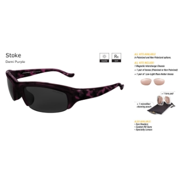 Switch Stoke Demi Purple/True Color Grey Reflection Silver Non Polarized Sun Kit Sunglasses