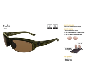 Switch Stoke Olive/Contrast Amber Reflection Bronze Non Polarized Sun Kit Sunglasses