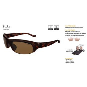 Switch Stoke Tortoise/Contrast Amber Reflection Bronze Polarized Glare Kit Sunglasses
