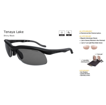 Switch Tenaya Lake Shiny Black/True Color Grey Reflection Silver Non Polarized Sun Kit Sunglasses