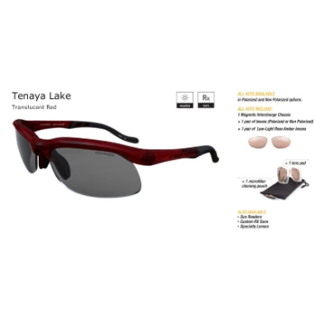 Switch Tenaya Lake Translucent Red/True Color Grey Reflection Silver Non Polarized Sun Kit Sunglasses