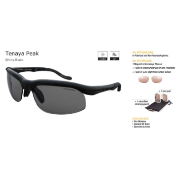 Switch Tenaya Peak Shiny Black/True Color Grey Reflection Silver Non Polarized Sun Kit Sunglasses