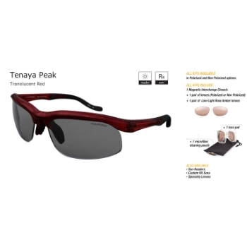 Switch Tenaya Peak Translucent Red/True Color Grey Reflection Silver Non Polarized Sun Kit Sunglasses