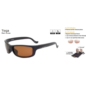 Switch Tioga Black Bronze / Contrast Amber Reflection Bronze Non Polarized Sun Kit Sunglasses