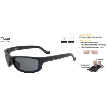 Switch Tioga Black Grey / True Color Grey Non Reflection Polarized Glare Kit Sunglasses