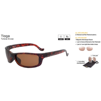 Switch Tioga Tortoise Bronze / Contrast Amber Non Reflection Polarized Glare Kit Sunglasses