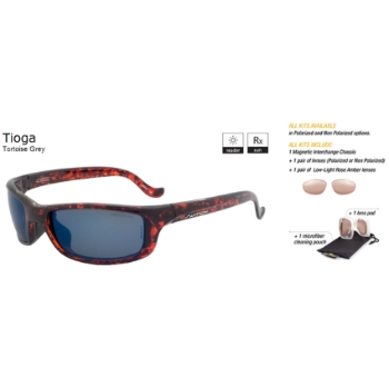 Switch Tioga Tortiose Grey / True Color Grey Reflection Blue Polarized Non Polarized Sun Kit Sunglasses