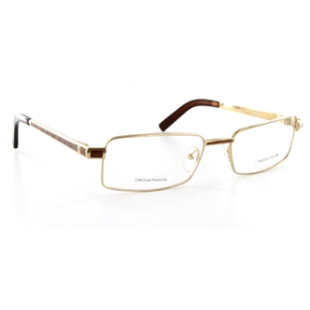 Wood Look by Gold & Wood WL013 (Wood Temples) Eyeglasses