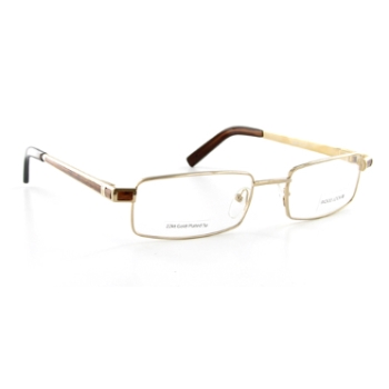 Wood Look by Gold & Wood WL014 (Wood Temples) Eyeglasses