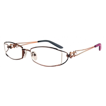 Bulova Twist Titanium Gold Coast Eyeglasses