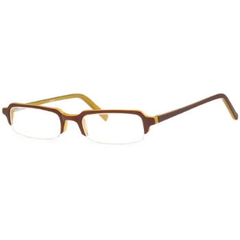 Capri Optics Traditional Plastics Banker Eyeglasses