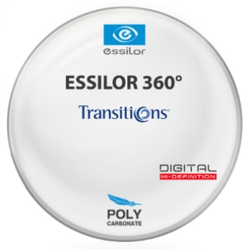 Essilor Essilor 360 Digital Transitions® 8™ (Grey) Polycarbonate Lenses
