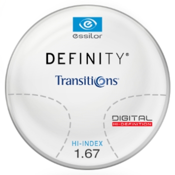 Essilor Definity® 3 Digital by Essilor Transitions® SIGNATURE 8 - Hi-Index 1.67 Progressive Lenses