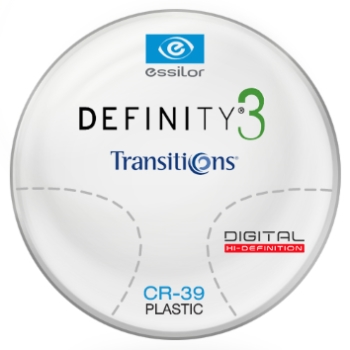 Essilor Definity® 3 Digital by Essilor Transitions® SIGNATURE VII - [Gray] Plastic CR-39 Progressives Lenses