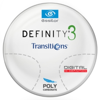 Essilor Definity® 3 Digital by Essilor Transitions® SIGNATURE 8 - Polycarbonate Progressive Lenses
