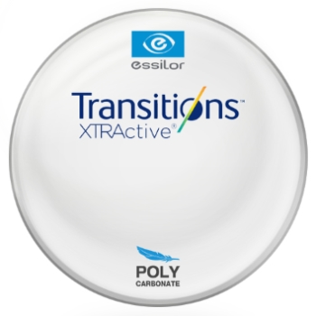 Essilor Transitions® XtrActive® - Polycarbonate Plano Lenses