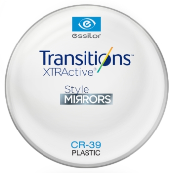 Essilor Transitions® XtrActive® - Style Mirrors - Plastic CR39 Lenses