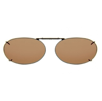 Haven Clip Oval 2 Bronze Frame Amber Lens Sunglasses