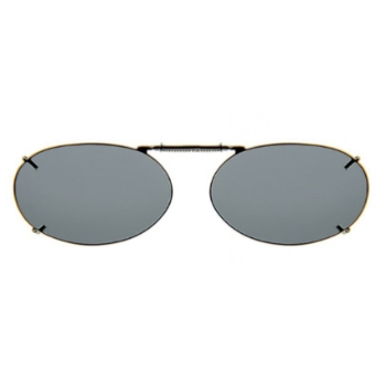 Haven Clip Oval 2 Gunmetal Frame Gray Lens Sunglasses