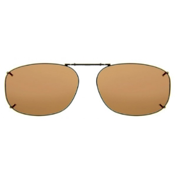Haven Clip Rec 12 Bronze Frame Gray Lens Sunglasses