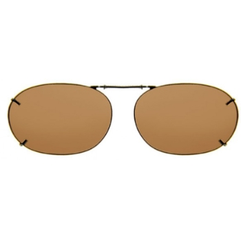 Haven Clip Rec 2 Bronze Frame Amber Lens Sunglasses