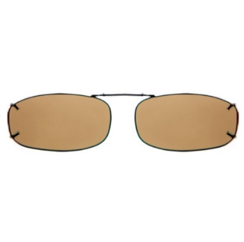 Haven Clip Rec 4 Bronze Frame Amber Lens Sunglasses