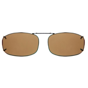 Haven Clip Rec 5 Bronze Frame Amber Lens Sunglasses